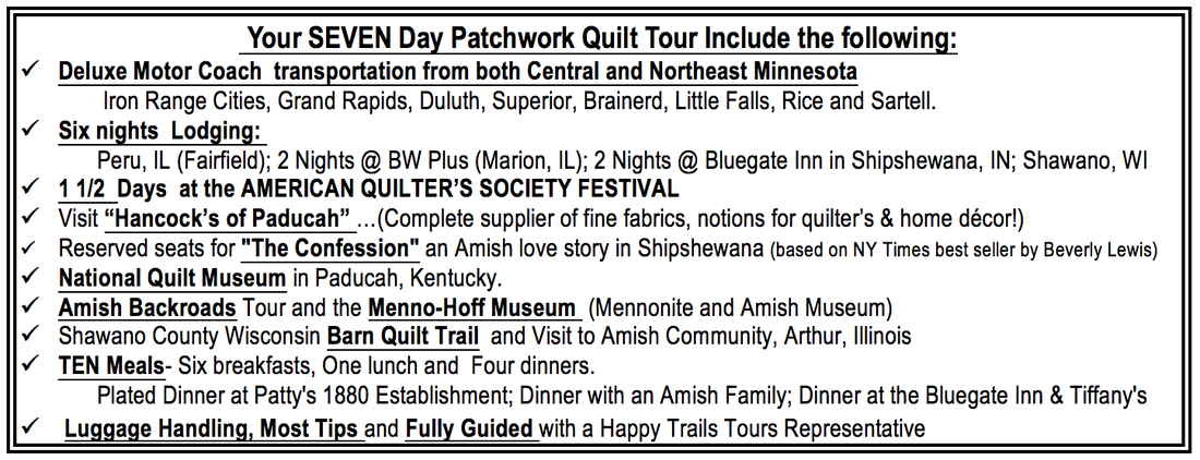 The Patchwork Quilt Tour Happy Trails Tours